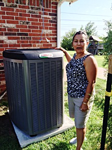 customer with air conditioner
