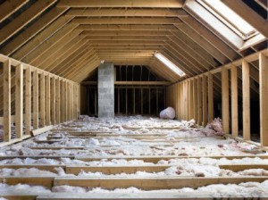 See the studs, more insulation is needed