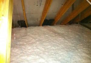 Soffit baffles maintain good attic ventilation