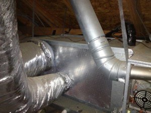 Unsealed duct