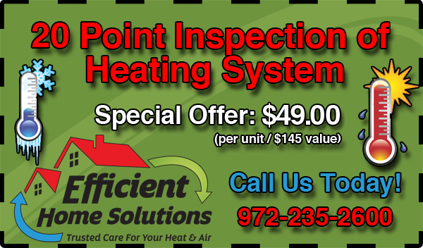 20 Point Inspection of Heating System - $79