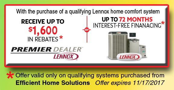 lennox home comfort system. lennox home comfort system spring rebate savings