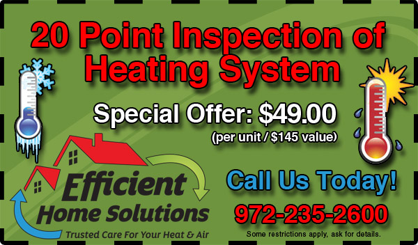 20 Point Inspection of Heating System - $49