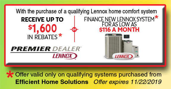 Lennox Home Comfort System Summer Rebate Savings Up To $1600 or As Low As $116 A Month