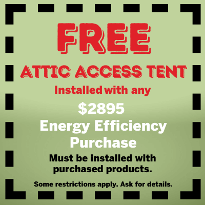 Free Attic Access Tent Installed