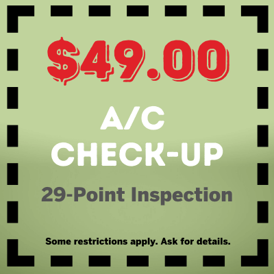 49 AC Checkup 29 Point Inspection Coupon