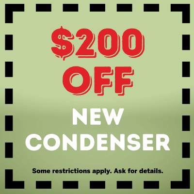 200 off new condenser coupon