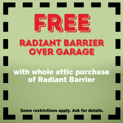 Free Radiant Barrier over garage coupon