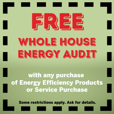 Free whole house energy audit coupon