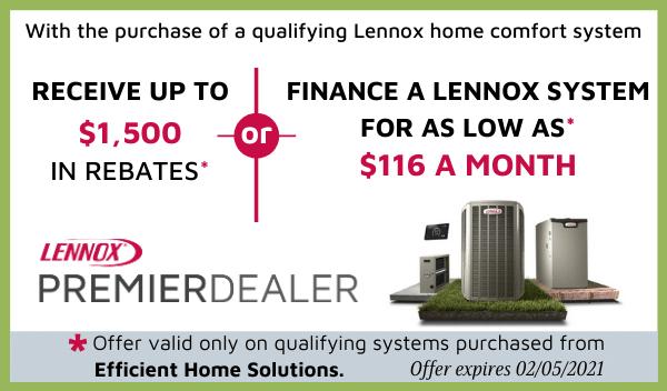 Lennox Rebate Efficient Home Solutions