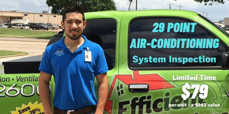 Dallas Heating and air conditioning 29 Point Air Conditioning System Inspection