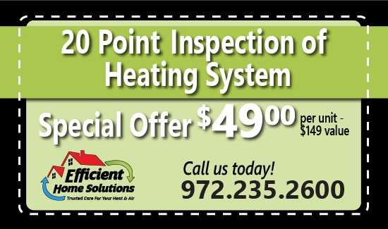 Efficient Home Solutions Heating Inspection Coupon